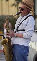 Saxofonista en la rambla de Piriápolis, Maldonado, Uruguay