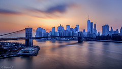 Brooklyn Bridge Sunset! (Hameed S) Tags: newyorkcity nyc newyork sunset skylines skyscraper skyline seascape usa urban urbanenvironment longexposure lowermanhattan manhattan manhattannight golden goldenhour cityscape canonef24105mmf4lisusm canon canoneos5dmarkiii brooklyn brooklynbridge manhattanbridge