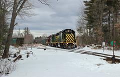 Three EMDs at Tri-City (Rick Kfoury) Tags: train trains nh new hampshire northcoast railroad