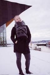 Dina (HaakonDueland) Tags: portrait beautiful coffee shop kristiansand portrett moody winter norway norwegian girl photo