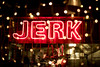 Jerk (Reckless Times) Tags: 100x project jerk chickeb chicken neon sighn sign red fair lights bokeh signage oxford jamaican eat restaurant nikon d750