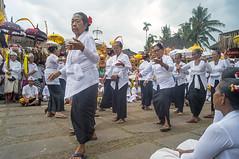 annual temple festival (kuuan) Tags: ubud bali indonesia voigtländerheliarf4515mm manualfocus mf voigtländer15mm aspherical f4515mm superwideheliar apsc ricohgxrm ricohgxr mmodule purapenataransasih pejeng praying festival dancing ladies traditionaldress traditions