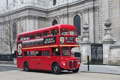 ALM 89B, Stagecoach Routemaster RM2089, passing St. Paul's Cathedral, 10th. March 2018. (Crewcastrian) Tags: london buses transport publictransport londontransport stagecoach aec routemaster stpauls