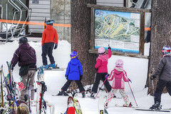 trail map (albyn.davis) Tags: people winter ski skiing children child colors colorful vivid bright vibrant snow map red pink blue vacation