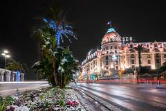 Snowy promenade (Rémi FERRIERI) Tags: nice neige sony a7 tokina firin 20mm french riviera night nuit long exposure snow cote d'azure promenade des anglais negresco hotel