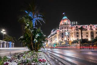 Snowy promenade