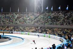 WK Schaatsen, Amsterdam. (parnas) Tags: olympischstadion amsterdam nederland wk schaatsen ijs publiek sport regen rain nighttime