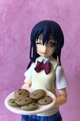 What, No Pie? (Sasha's Lab) Tags: umi sonoda 園田海未 lovelive ラブライブ high school idol teen girl cookies pi day uniform figma action figure jfigure explored wink