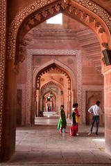Beautiful sandstone hallway in Fatehpur Sikri (amanda & allan) Tags: fatehpursikri agra uttarpradesh india sandstone hallway fatehpur sikri