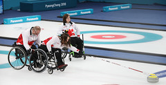 Paralympic_Wheelchair_Curling_Korea_vs_Canada_03 (KOREA.NET - Official page of the Republic of Korea) Tags: pyeongchang gangneungsi gangneungolympicpark curling wheelchaircurling curlingcentre 컬링 2018평창동계패럴림픽 2018pyeongchangwinterparalympic paralympics 패럴림픽 휠체어컬링