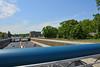 Duisburg - Innenstadt (67) - die A 59 (Pixelteufel) Tags: duisburg nordrheinwestfalen nrw innenstadt city stadtmitte stadtkern strase autobahn infrastruktur brücke strasenbrücke autobrücke autoverkehr verkehr bäume baumbestand