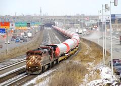 CN L307 (Michael Berry Railfan) Tags: cn canadiannational cnl307 cn307 train freighttrain windmilltrain unittrain montreal montrealsub quebec