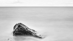 The Rock And The Water (John Westrock) Tags: blackandwhite longexposure rock water deceptionpass minimalism minimal washingtonstate pacificnorthwest canoneos5dmarkiii canonef2470mmf28lusm bwnd1000x