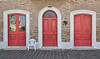 3 red doors (poludziber1) Tags: street streetphotography summer city colorful cityscape color colorfull italia italy light red door marche recanati travel urban architecture