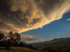 A storm is coming... (davYd&s4rah) Tags: mountains storm hail clouds southafrica landscape drakensberge sunset