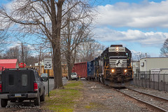 NS EMD GP38-2 #5285 @ Morrisville, PA (Darryl Rule's Photography) Tags: 2018 clouds cloudy conrail conrailsharedassets diesel diesels emd freight freightcar freighttrain freighttrains gp382 geep geeps local march morrisville ns norfolksouthern pa prr pennsy pennsylvania pennsylvaniarailroad railroad railroads sun sunny tollbrothers train trains winter ypmor1