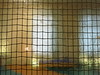the room behind I (vertblu) Tags: glass glas glasspane paneofglass wiredglass room windows blur blurry blurred lights squared squares square vertblu lines linien line vertical horizontal lookingthrough lookinginto grid gridpattern distorted distortion indoor