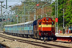 BMO - HYB Pass. (B V Ashok) Tags: test pune cr wdm3d alco 11369 bmohyb bolarumhyderabad passenger cvb scr cavalrybarracks