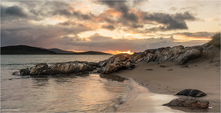 Sunset at Luskentyre (explored)
