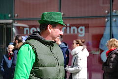 Faces of St. Patrick's Day Parade: man in various shades of green (Can Pac Swire) Tags: toronto ontario canada canadian irish culture heritage parade stpatricks day 2018 20180311 yonge street st green cultural 2018aimg9445 man men costume costumes