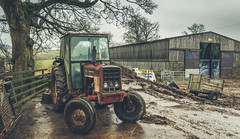 """Retired from Duty (Ian Emerson """"I'm Back"""") Tags: farm farming old tractor international barn workhorse vehicle muddy tree retired derbyshire outdoor canon"""