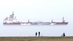 TILDA KOSAN (maerskman) Tags: tildakosan ship tankship red fog elbe cuxhaven trappmann d800