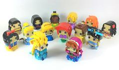 14 Disney BrickHeadz Princesses (YOS Bricks) Tags: ariel mulan elsa anna merida jasmine moana cinderella aurora rapunzel tiana pocahontas brickheadz disney princess