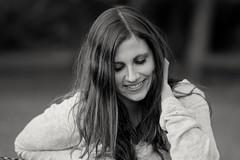 Cary (Kai Beinert) Tags: blackandwhite girl nikon bokeh woman smile portrait porträt beauty happiness glück frau schönheit brunette german deutschland outdoor personen bestportraitsaoi