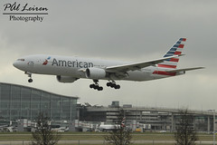 American Airlines - N751AN - 2018.03.11 - EGLL/LHR (Pål Leiren) Tags: london england heathrow lhr eggl flyplass airport planes plane planespotting aviation aircraft runway rw airplane canon7d 2018 airliner jet jetliner march march2018 egll heathrowairport londonheathrow uk greatbritain unitedkingdom american airlines n751an americanairlines boeing 777223erb772