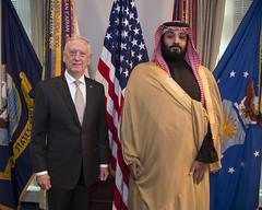 SD meets KSA (Archive: U.S. Secretary of Defense) Tags: washington districtofcolumbia usa department defense pentagon secretary secdef james mattis n jim chaos dod military photo kathryn holm crown prince mohammed bin salman abdulaziz ksa saudi arabia