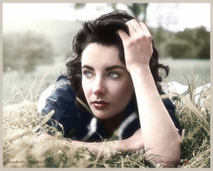 Elizabeth Taylor 1932 - 2011 (oneredsf1) Tags: actress british hollywood colorized taylor elizabeth