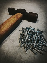 Hammer and Steel Nails (zohaibusmann) Tags: hammer nails hammerandnails steelnails zohaibusmanphotography poshe550