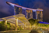 Marina Bay Sands, Singapore (AdelheidS Photography) Tags: adelheidsphotography adelheidsmitt adelheidspictures singapore canong1x marinabay marinabaysands architecture bluehour blue building blauwuurtje hotel evening citylights asia lasers night