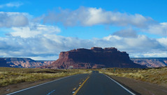 Headed for Monument Valley #1 (jimsawthat) Tags: clouds sky road highdesert navajo rural kayenta arizona