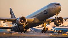 PH-BVD (tynophotography) Tags: klm 777300er phbvd skyteam livery 77w 773 777 sunset boeing
