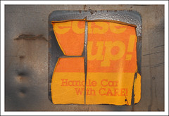 Ease Into It (All Seeing) Tags: csx easeup handlecarwithcare decal sticker thot