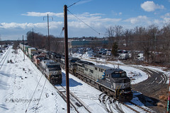 NS GE AC44C6M #4004 @ Oxford Valley, PA (Darryl Rule's Photography) Tags: 14g 2018 24k bnsf bs03 buckscounty cpjohn clouds cloudy diesel diesels emd freight freightcar freighttrain freighttrains ge gp382 intermodal langhorne levittown local march mixedfreight morrisville ns norfolksouthern oxfordvalley pa pennsylvania railroad railroads sun sunny train trains westlang winter