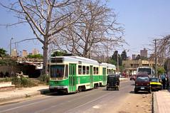 Der Ganz-Zug 1227/1228 an der Haltestelle El Itali (Frederik Buchleitner) Tags: 1227 1228 alexandria ganz linie2 misr strasenbahn streetcar tram trambahn aliskandariyya ägypten الإسكندرية مصر