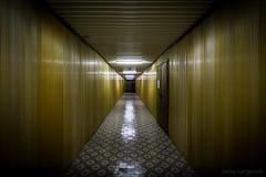 Radioactive Corridor (Lesley Langeveld) Tags: gold golden corridor chernobyl nuclear power plant deaerator reactor chnpp