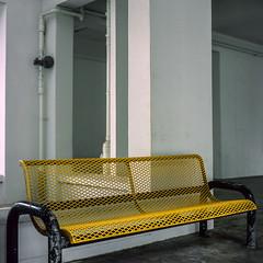 Boon Lay (alkanphel) Tags: hasselblad 501cm zeiss planart2880cfe film analog mediumformat 6x6 120 e6 fujifilm fujichrome provia100f rdpiii chair urban