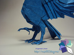 Yatagarasu (Rydos) Tags: paper origami art hanji koreanpaper korean paperfold fold folding paperfolding designed design model papermodel korea origamilst skyblue sky blue kamiyasatoshi kamiya satoshi yatagarasu japanese mythical raven crow