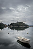Grey day (bilusickr) Tags: grey day rain dalmatia lake neretva birina croatia reflections boat watter dalmacija hrvatska clouds cloudsstormssunsetssunrises