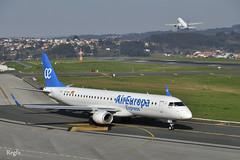 A Coruña (REGFA251013) Tags: air europa vueling avion embraer 190 airbus 320 coruña aena plane madrid londres alvedro