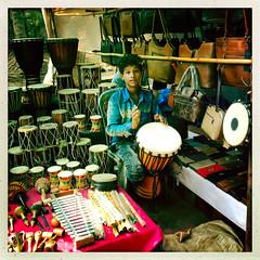 FPBD8042 (nagumbe) Tags: drums music instruments anjuna market goa india selling trade trader hipstamatic