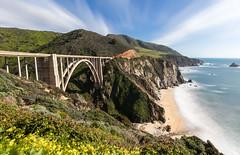 California (recgorski) Tags: bigsur highway1 unitedstates bridge highway sea road rock rocks ocean california coast bixbybridge pacificocean