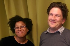 Bianca Clark and Scott Eustis for GRN for AAG 2018 (Gulf Restoration Network) Tags: grn staff science pals