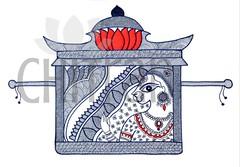 Chitran_095 (chitranbyaashka) Tags: chitranbyaashka zentangle blackandwhite art paintings products design creative artwork pen passion bride marriage doli palankeen palanquin red ornaments beauty