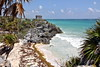 Tulum - temple by the sea (Chemose) Tags: mexico mexique yucatán yucatan tulum mer sea caraïbes carribean eau water maya temple hdr canon eos 7d mars march landscape paysage coast