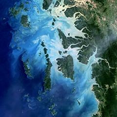 Mergui Archipelago (skaradogan) Tags: nasa burma myanmar thailand merguiarchipelago archipelago andamansea goddard auckland landsat5 landsat
