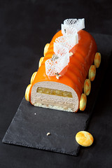 """Banana Breeze"" Entremet (Мiuda) Tags: cake cakes yulelog entremet sweet sweets orange banana yule log christmas delicious dessert colorful bright contemporary entremets modern luxury gourmet black macro object canon glaze juicy summer yellow fruit ice cream icecream cold gelatin pastry french professional patissier pastries patisserie confectionery jelly compote biscuit layered long macaron macarons sunny sun chocolate decor decoration food photography foodphotography foodphoto recipe recipes blog blogger foodblog foodblogger sugar sweetness sponge caramel praline"